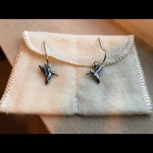 James Avery Retired Hummingbird Earrings